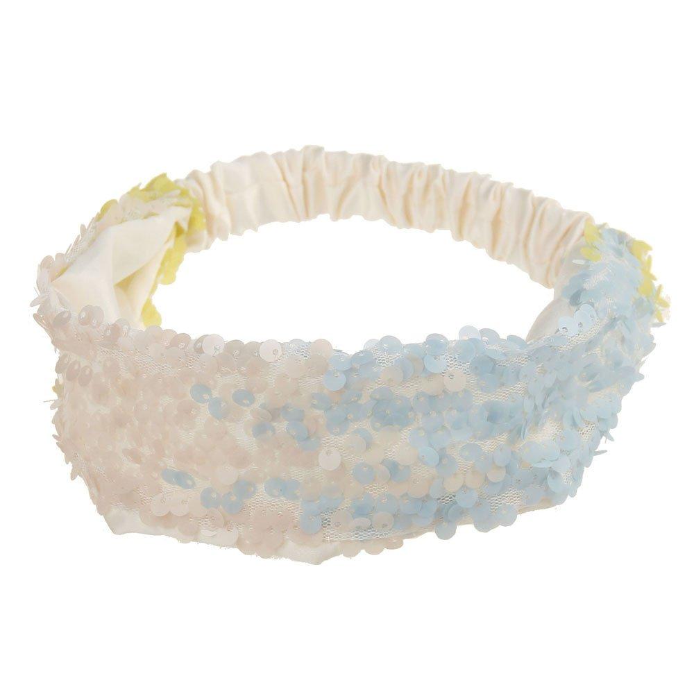 Women Fashion Hair Ball Cotton Headbands Sequins Yoga Elastic Run Head Wrap Wide Hair Accessories Sport Turban ODGear (I)