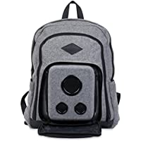 The Rager Backpack: The Bluetooth Speaker Backpack of 2017. The Premium Backpack with Speakers (Gray).