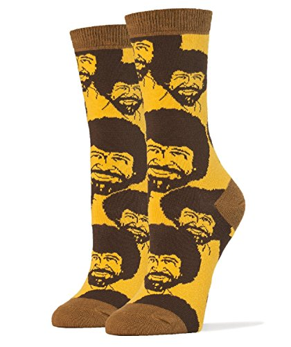 Mob Outfit (Oooh Yeah Women's Luxury Combed Cotton Crew Socks ,Bob Ross Flash Mob,One Size)