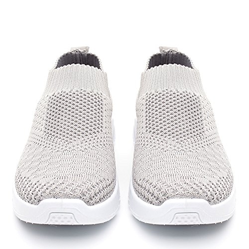 Walking and Shoes on Slip Sneakers Grey909 Athletic Lightweight Breathable Women DRKA Mesh OYtBBx