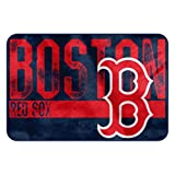 The Northwest Company MLB Boston Red Sox Embossed Memory Foam Rug, One Size, Multicolor