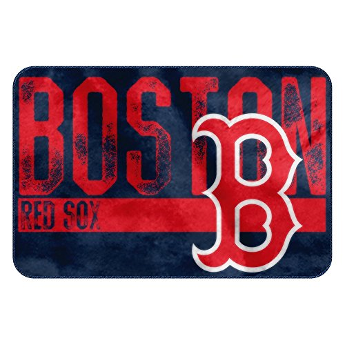Red Sox Rugs - The Northwest Company MLB Boston Red Sox Embossed Memory Foam Rug, One Size, Multicolor