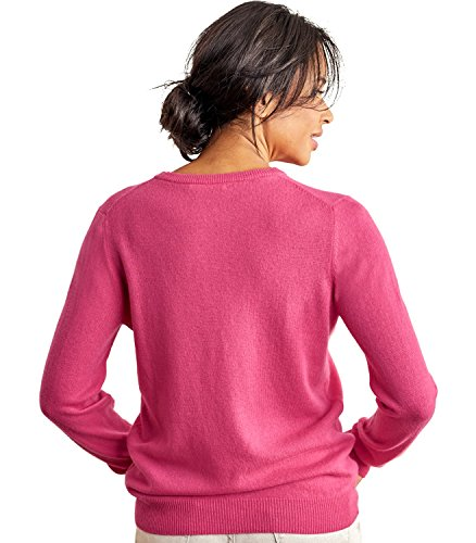 WoolOvers Pull à col rond - Femme - Cachemire & Mérinos Shocking Pink, S