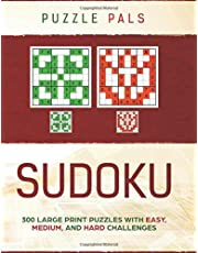 SUDOKU: 300 Large Print Puzzles with Easy, Medium, and Hard Challenges