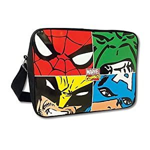 BB Designs Marvel Comics Marvel Face Off Multi Character Messenger Bag by BB Designs