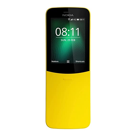 3e5504e267d38f Amazon.com: Nokia 8110 (TA-1059) 512MB/4GB 2.45-inches Factory Unlocked,  International Stock (Yellow): Cell Phones & Accessories