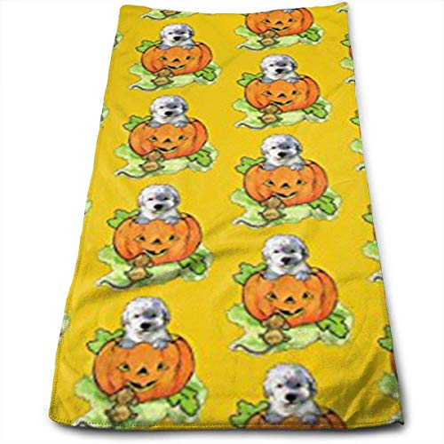 Halloween Labradoodle Puppy Multi-Purpose Microfiber Towel Ultra Compact Super Absorbent and Fast Drying Sports Towel Travel Towel Beach Towel Perfect for Camping, Gym, Swimming. ()