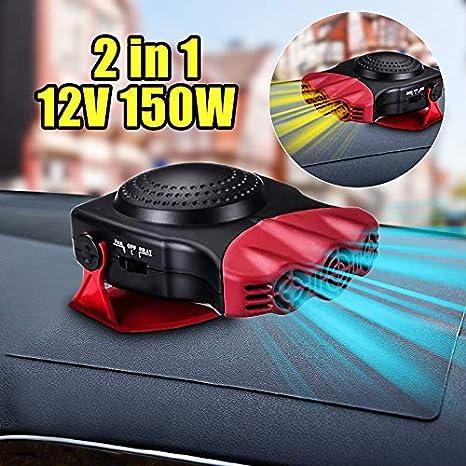 LanLan Mini Riscaldatore Termoventilatore Elettrico Portatile, Ventilatore di Riscaldamento/Raffreddamento 2 in 1 12V per Auto Camion, Rosso ADE*zt1119/1HYOAY_ele