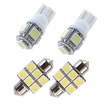 4 X CANBUS Coche LED Bombillas 12V Para Coches Luces De La Matrícula Posición Laterales Iluminación Interior Luces Laterales: Amazon.es: Coche y moto
