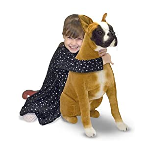 Melissa & Doug Giant Boxer - Lifelike Stuffed Animal Dog 5