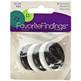 Blumenthal Lansing Favorite Findings Big Basic Buttons, 6-Pack, Black and White