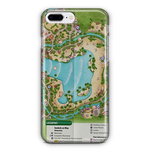 Queen of Cases Hard Shell Phone Case - Typhoon Lagoon - Lagoon World Map Typhoon Disney