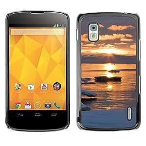 Paccase / SLIM PC / Aliminium Casa Carcasa Funda Case Cover - Sunset Beautiful Nature 47 - LG Google Nexus 4 E960