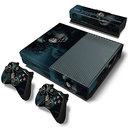 Ambur® Full Protective Xbox One Skin with 2PCS Protective Vinyl Skin Decals Cover for Microsoft Xbox One Controllers (Game of Thrones Jon Snow Poster)
