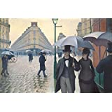 Posters: Gustave Caillebotte Poster Art Print - Paris Street, Rainy Day, 1877 (47 x 31 inches)