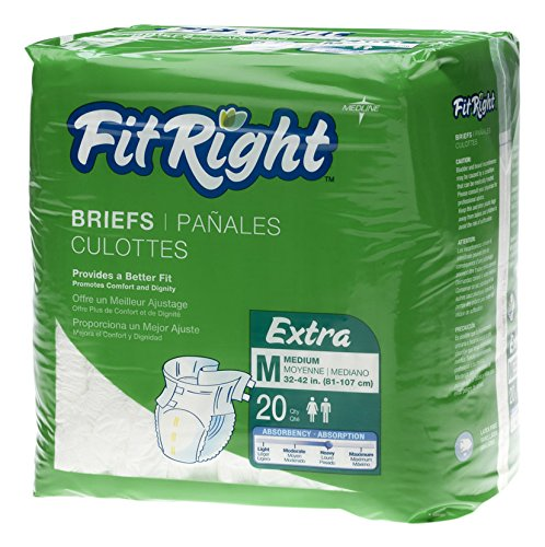 MEDLINE FITEXTRAMD FITEXTRAMDZ FitRight Briefs