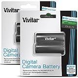 (2 Pack) Vivitar EN-EL15 Ultra High Capacity 2500mAh Li-ion Batteries for NIKON DSLR D750 D7100, D7000, D800E, D800, D600, NIKON 1 V (Nikon EN-EL15 Replacement)