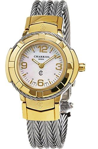 Charriol Women's 'Celtic' Swiss Quartz Stainless Steel Dress Watch, Color:Silver-Toned (Model: CE426Y1640002) by Charriol
