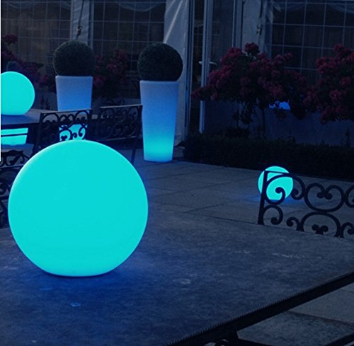 200mm Outdoor LED Solar Ball Garden Light Mood Colour Changing Sphere/Globe  With Stake