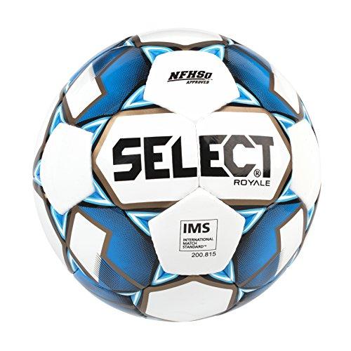 SELECT Royale Soccer Ball, White/Blue, Size 5
