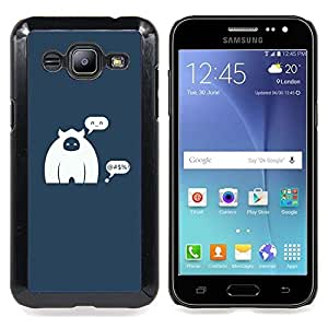 Queen Pattern - FOR Samsung Galaxy J2 - Caveman Monkey Figurine Art Cartoon Character - Cubierta del caso de impacto con el patr???¡¯???€????€???&Acir