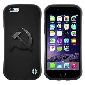 """Pulsar iFace Series Tpu silicona Carcasa Funda Case para Apple (4.7 inches!!!) iPhone 6 / 6S (4.7 INCH) , Cap Rusia Unión Gris comunismo"""""""