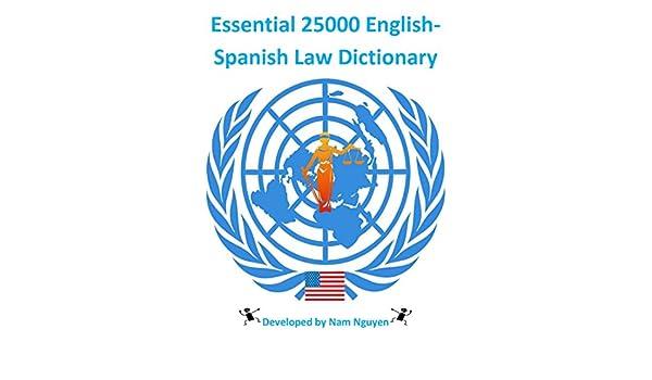 Essential 25000 English-Spanish Law Dictionary (English Edition ...