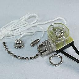 Zing Ear ZE-109 Pull Chain Switch Light Lamp Ceiling Fan Canopy (Nickel)