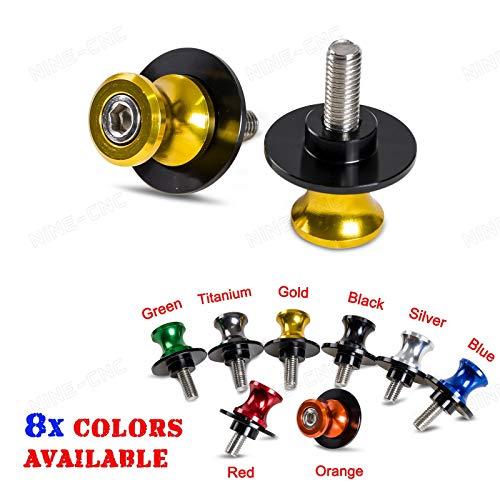 FidgetGear CNC 6mm Swing Arm Spools Sliders for Yamaha YZF-R1 YZF-R6 1998-2015 R7 1998-2002 Titanium