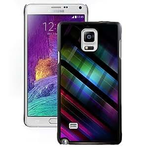 Fashionable Custom Designed Cover Case Samsung Galaxy Note 4 N910A N910T N910P N910V N910R4 With Colored Abstract Stripes Phone Case Cover