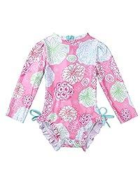 1-5 Years Sayolala Baby Girls Swimsuit Kids Floral Print Vest Summer Swimwear Romper Jumpsuits