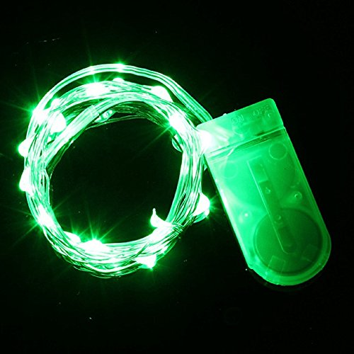 Battery operated green led light strip amazon mst 2m65ft 20leds cr2032 battery operated micro mini led string light silver wire starry light string for decoration pack of 3 green mozeypictures Image collections