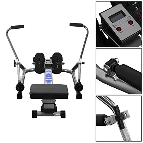 CNMODLE Adjustable Resistance Rowing Machine Rower w/ LCD Monitor, Body Glider Home Rowing Machine for Training Exercise Abdominal Muscle Equipment