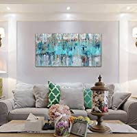 Amazon Com Large Abstract Wall Art Decor Mint Green Gray Canvas Prints For Living Room Bedroom Big Artwork Home House Office Wall Decoration 24x48inch Everything Else