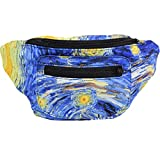 Impressionist Fanny Pack, Arty Party Boho Chic Handmade with Hidden Pocket