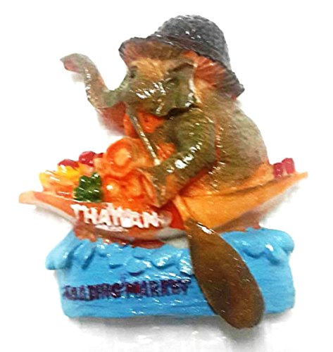 Thailand Souvenir Elephant 3D Resin Magnets P6 by (Flat Screen Collection Clock)