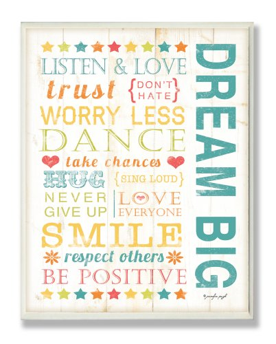 The Kids Room by Stupell Dream Big Typography Wall Plaque
