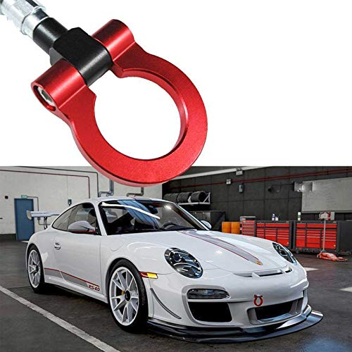 (Xotic Tech JDM Track Racing CNC Aluminum Alloy Tow Hook for Porsche 911 991 Carrea Panamera, Red )