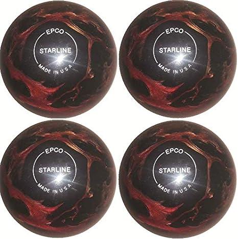 EPCO Starline - Bolas de Bolos (4 Pelotas), Color Vino, Bronce y ...