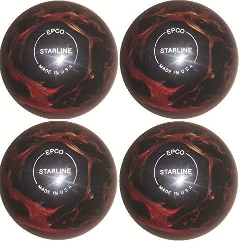EPCO-Duckpin-Bowling-Ball-Starline-Wine-Bronze-Black-Pearl-4-Balls