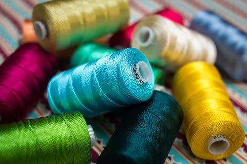 WonderFil Specialty Threads Razzle This sturdy 6-ply 100/% rayon thread is comparable in weight to a #8 perle cotton. Dk Turquoise