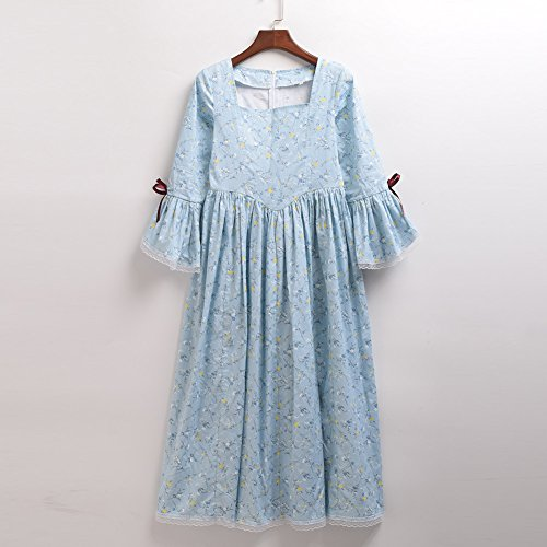 GRACEART Colonial Girls Dress Prairie Pioneer Costume 100% Cotton (Light Blue,Size-10) by GRACEART (Image #7)