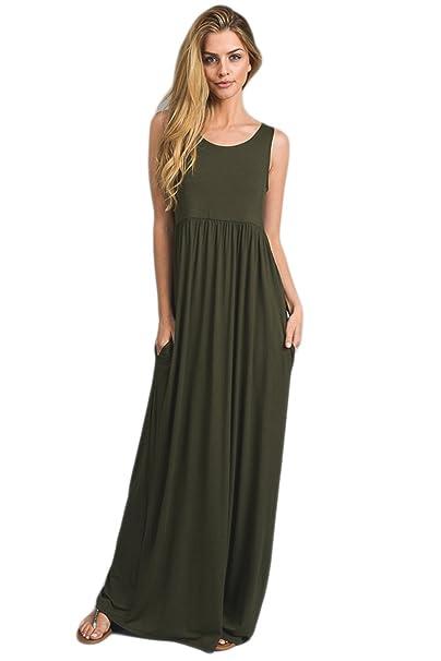 973f73d1bc1 Vanilla Bay Signature Racerback Maxi Dress  Amazon.ca  Clothing    Accessories