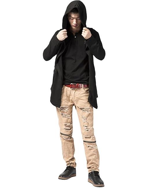 Hombre Hip Hop Jacket Chaqueta Parka con Capucha Cremallera Manga Larga Jacket: Amazon.es: Ropa y accesorios