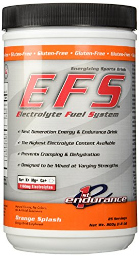 First Endurance EFS Drink Mix (25 servings) – Orange Splash (1.8lb)