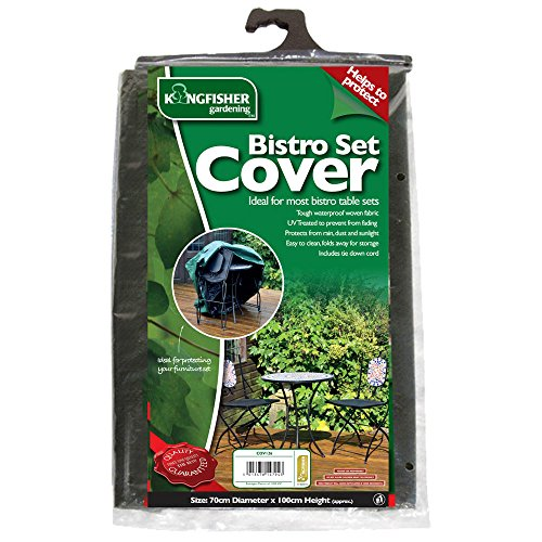 Bistro Set Cover - Protect Your Furniture! - Garden - Kingfisher (Uk Furniture Bistro Set Garden)
