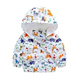 EZB Childrens Unisex Safari Animal Windbreaker Jacket (18-24 Months, White)