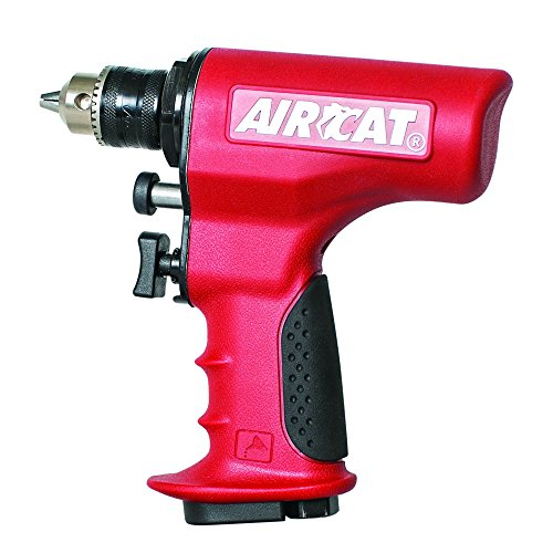 "Image of AIRCAT 4439 3/8"" Reversible, Ergonomic Air Drill, Small, Red"
