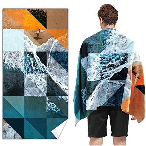 Snailman Microfiber Beach Towel | Quick Drying Lightweight Travel Towels | Oversized Beach Blanket Sand Free Towel | (Go Surfing, X-Large(70x35)) (Beach Towel Surfing)