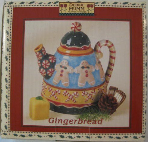 Sakura Debbie Mumm Teapots - Debbie Mumm Mumm's World Mini Teapot Collector Series Gingerbread